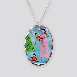 Nutcracker & Clara Necklace Oval Charm